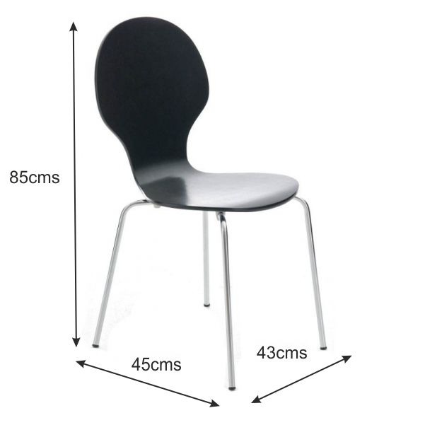 Kimberley Black Amp Chrome Dining Chairs Sale Now On Your